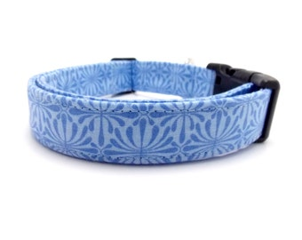 "Light Blue Dog Collar - 1"" Wide  - Medium & Large Sizes"