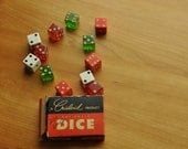 vintage crisloid dice bakelite1/2 lucite in box