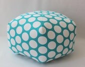 "24"" Ottoman Pouf Floor Pillow Dandie Dot Turquoise"