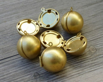CLOSE OUT  Lot 5pcs Steampunk Victorian wholesale antique bronze brass locket ball sphere pendant orb charm necklace earrings  118  jewelry