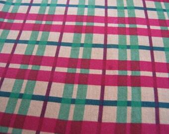 Lt. Green Red Gold Aubrey Rose Flannel Fabric by Robin Pandolph 1/2 YARD