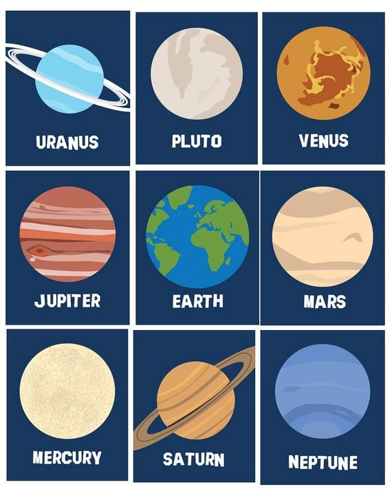 Items similar to Solar System Planets Wall Decor ...