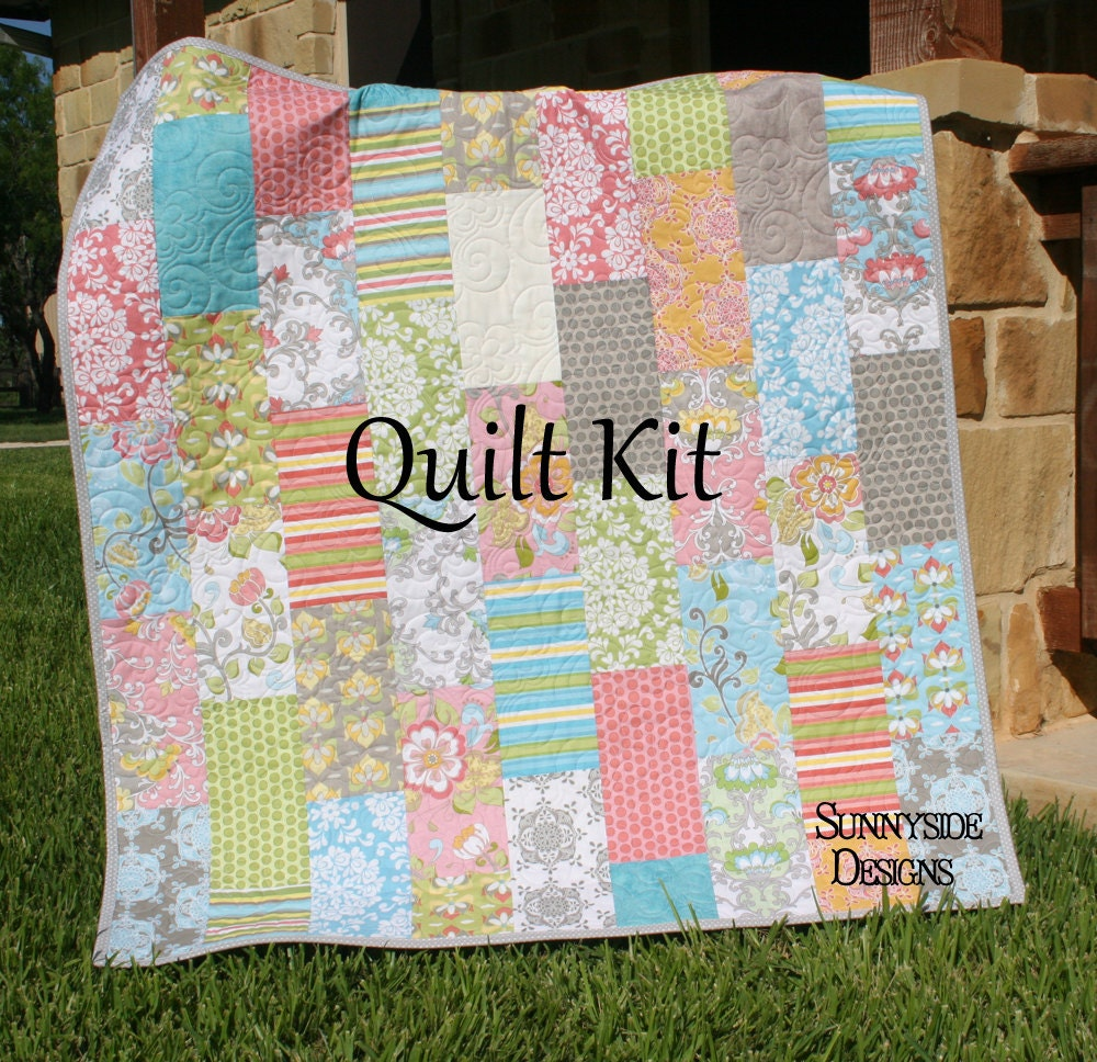 Quilt Kit Priscilla Baby Girl Crib Shabby Chic Pattern Backing