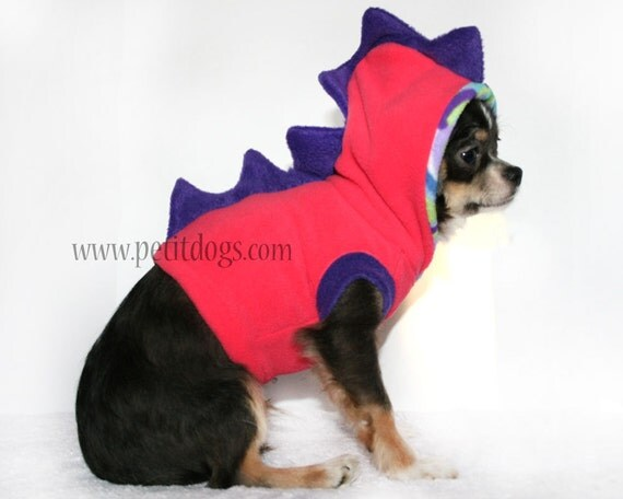 Dinosaur Spikes cute costume small dog Hoodie size XS SALE