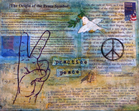 Peace Wall Art, with Inspirational Thoreau Quote