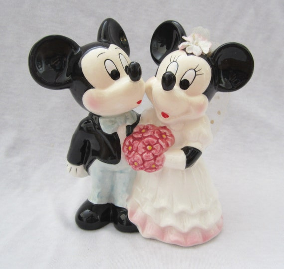 Disney Mickey And Minnie Wedding Cake Topper By Plaidpearls