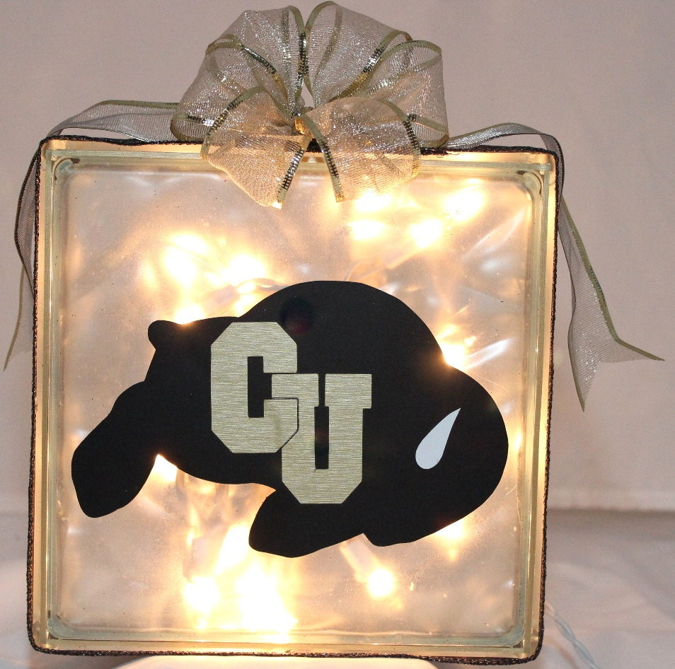 Cu Boulder Colorado Buffs Glass Acrylic Block