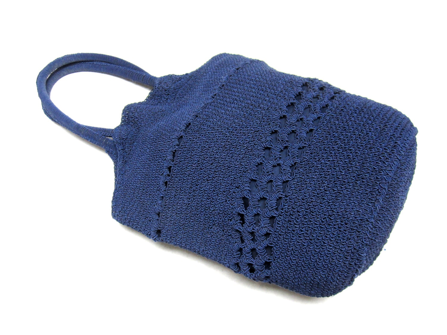 Hobo Bag Crochet : Blue Purse Crochet Hobo Bucket Handbag by sweetie2sweetie on Etsy