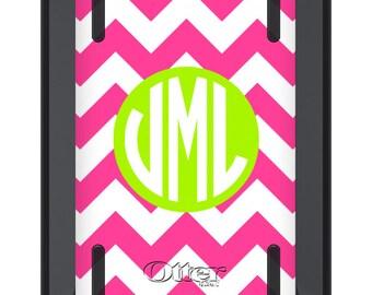 iPad Mini Cover OTTERBOX DEFENDER - Hot Pink Lime Green CHEVRON - Monogrammed iPad Mini 2 3 Case - Custom iPad mini 3 Case - Personalized