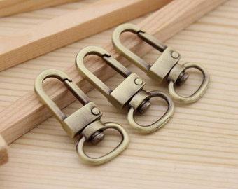 10pcs 12mm (inner diameter) antique bronze clasps hook for bag findings AC01