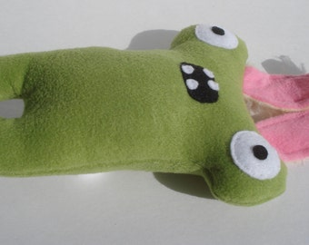 Easter Bunny Herman Hammerhead Squeaky Dog Toy - Sage Green