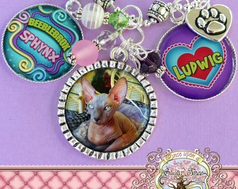 Pet Jewelry, Custom Pet Necklace, Photo Necklace, Business Name, Cattery, Dog, Cat, Animal, Photo Pendant, Memory Photograph, Pet ID Tag