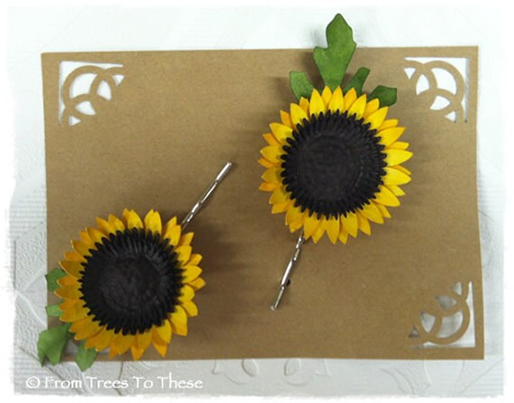 Sunflower Hair Pins (2)