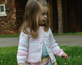 Shades of Pink Cardigan Sweater for Girls size 12-18 months