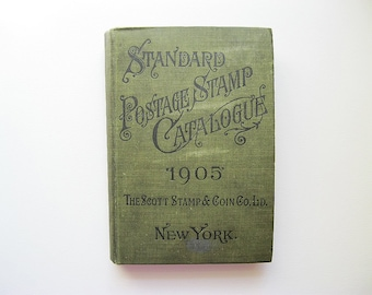 1905 Scott Standard Postage Stamp Catalogue Rare Very Good Condition