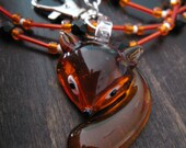 Amber fox necklace