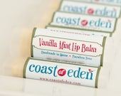 Lip Balm - Vanilla Mint - Shea Butter Lip Balm All Natural - Handmade in Maine - Coast of Eden  - Organic
