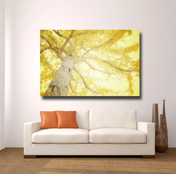 Large yellow wall art yellow tree by amytylerphotography for Home decor yellow walls