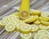 Lemon polymer clay fruit cane 1pcs for miniature foods decoden and nail art supplies uncut DIY