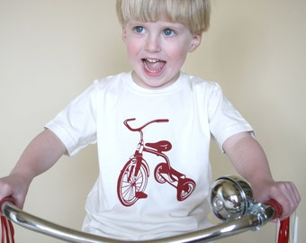 Tricycle Organic and Fair Trade Certified Toddler Tee 2T, 4T, 6T Eco Friendly Children's Clothing Trike Shirt Earth Day