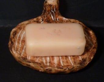 Mushroom soap dish or trinket dish handmade in USA  scrafftico method totally unique