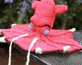 Needle felted vampire squid