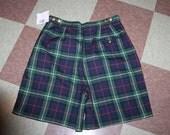 Liz Claiborne Liz Golf Shorts Scottish Plaid Tartan Irish 12 NWT LIZ GOLF