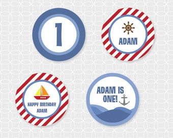 Sailboat Party Circles - Personalized Printable