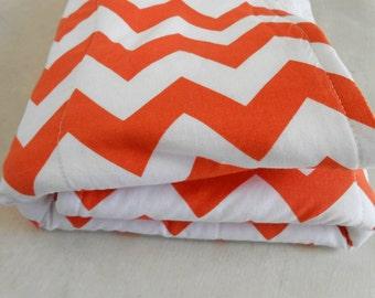Dish Drying Mat / Orange Chevron Dish Mat / Kitchen Drying Towel / Great Mothers Day Gift