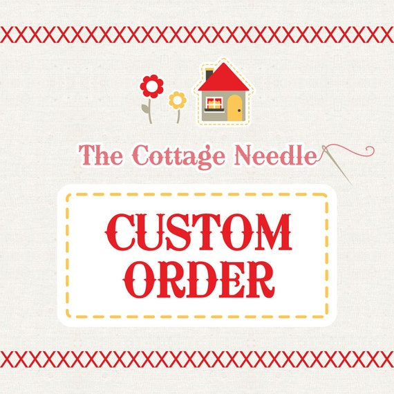 special custom order for margaret: counted cross stitch supplies needle craft