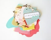 Love / Anniversary / Valentine's Day Pink & Blue Shabby Chic Tag Mini Album Kit Let Me Count the Ways