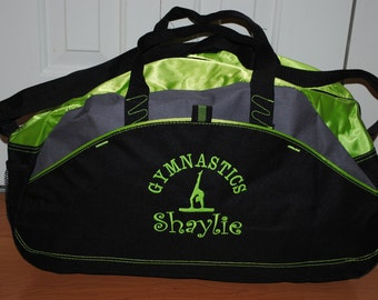 Duffel Bag Customized with a Personalized Design Embroidered Gym bag Gymnastics Football Dance Gymnastics Monogrammed Logo Large Duffel Bag
