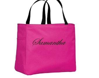 Tote Bag Bridesmaid Gift Personalized Embroidery Custom Cheer Dance Monogrammed Embroidered Baby Wedding