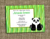 PRINTABLE INVITATION - Panda Bear or Zoo 5x7 Birthday Party Invitation - Memorable Moments Studio