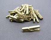 Metallic Gold Mini Clothespin - Set of 50