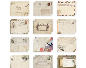 Vintage Design Mini Envelopes - Set of 12