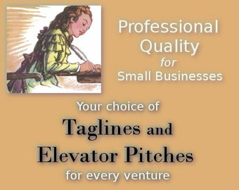 Business Tagline or 3-Part Elevator Pitch - Advertise & Network Like a Pro With This Service