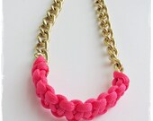 Chunky chain neon necklace