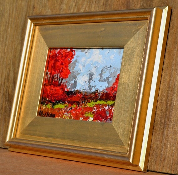 FRAMED Original Abstract Modern Art  Palette knife Oil  Painting, CHOOSE Your Frame, Free shipping,   Claire McElveen