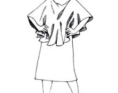 Oval Poncho Pre-Sewn Dye-Ready Silk Garment Kit
