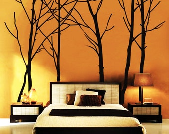 "Tree Wall Decal Forest Vinyl Sticker Large Nursery Wall Decal 94'', 84"", 108"", 115""H"