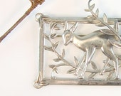 Vintage Silver Deer Pin Signed Sterling Coro Genuine Norseland Old 1940s Sterling Jewelry