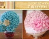 INSTANT DOWNLOAD - Crochet Vintage Swirl Hat Pattern - Baby hat pattern - Newsboy hat pattern - Crochet vintage hat pattern