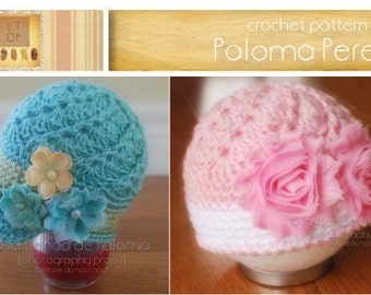 INSTANT DOWNLOAD - Crochet Vintage Swirl Hat Pattern - Baby hat pattern - Newsboy hat pattern - Crochet vintage hat pattern
