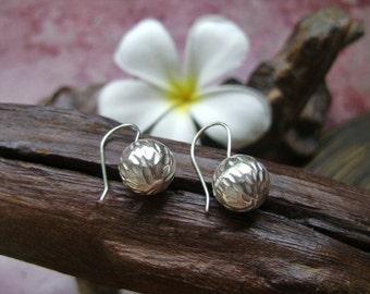 Thai Karen Hilltribe Silver Earrings - The Silver Ball (9)