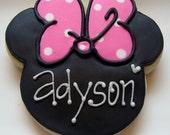 Girl Mouse Ear Cookies 3 dozen