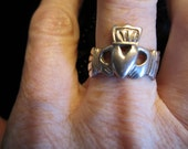 ON SALE - Exquisite Sterling Silver Hand-Crafted Claddagh Ring