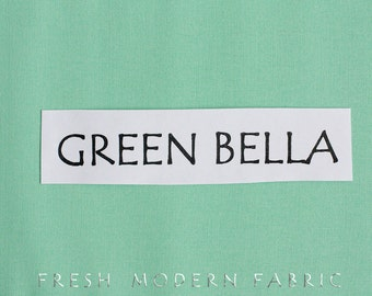 One Yard Green Bella Cotton Solid Fabric from Moda, 9900 65
