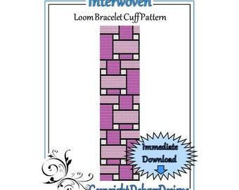 Bead Pattern Loom(Bracelet Cuff)-Interwoven