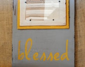 "Distressed ""blessed"" picture frame, great gift idea, slide-in frames, 4x6 frame opening, home decor, birthday gift, teacher gift, wedding"